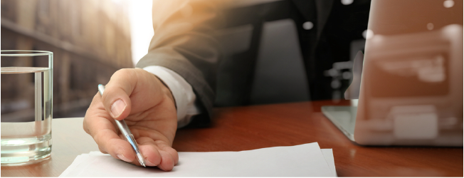 double exposure of businessman or salesman handing over a contract on wooden desk (1)-1